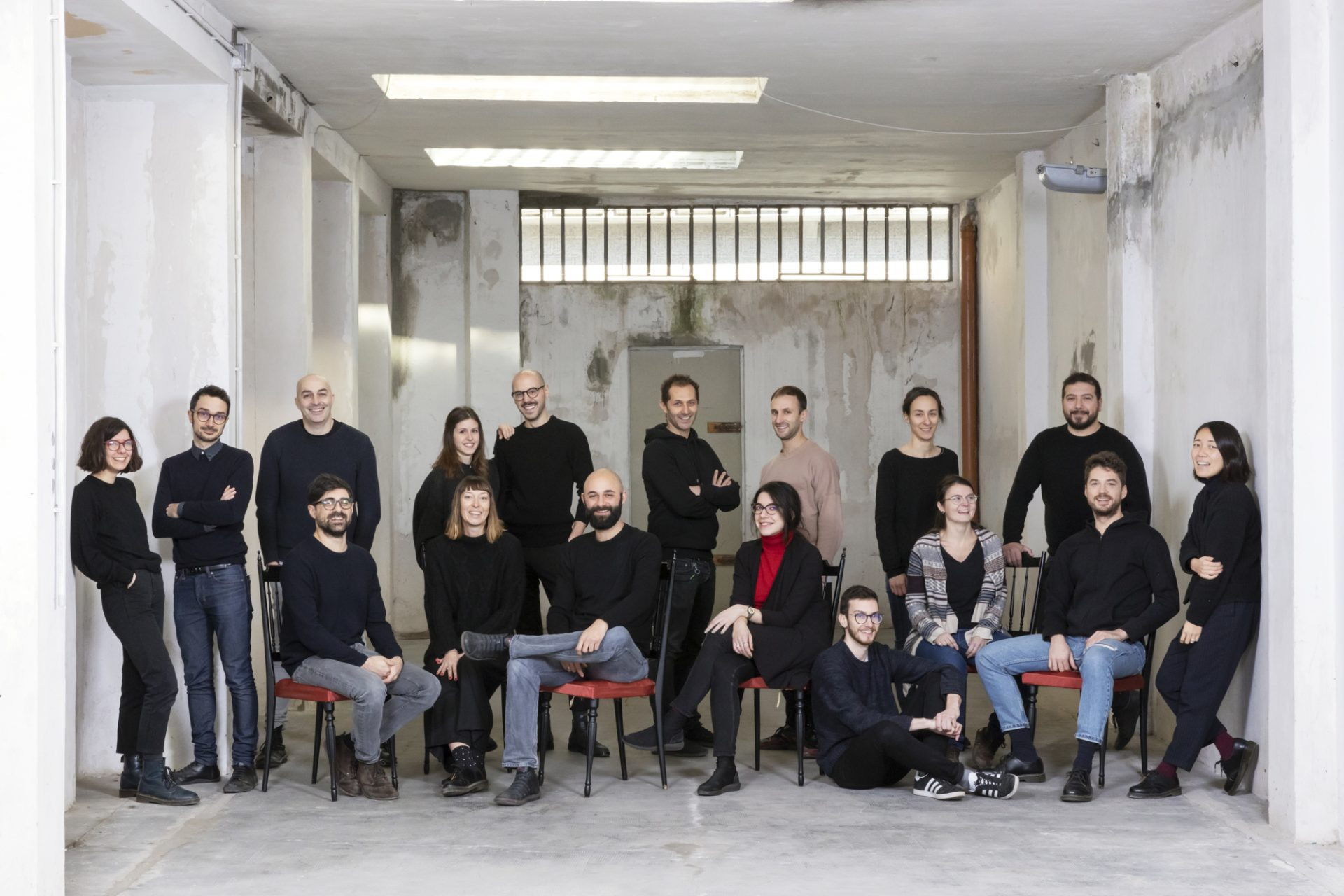 Whole team lamatilde, the architecture firm in Turin.